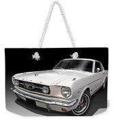 White 1966 Mustang Weekender Tote Bag