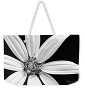 White And Black Flower Close Up Weekender Tote Bag