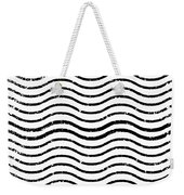 White And Black Postage Weekender Tote Bag