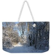 White And Blue Weekender Tote Bag