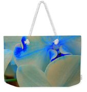White And Blue Orchid Weekender Tote Bag