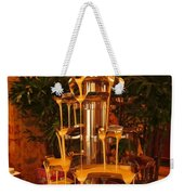 White And Dark Chocolate Fondue Fountain Weekender Tote Bag