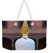 White And Golden Chorten Weekender Tote Bag