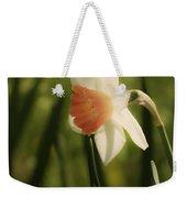 White And Orange Daffodil Weekender Tote Bag