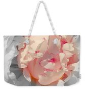White And Pink Lace Weekender Tote Bag