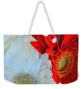 White And Red Flowers Weekender Tote Bag