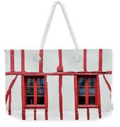 White And Red Half-timbered House Detail Weekender Tote Bag