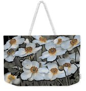 White And Yellow Weekender Tote Bag