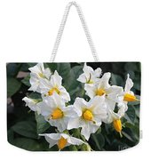 Garden Blossoms White And Yellow Garden Blossoms Weekender Tote Bag