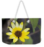 White And Yellow Sunflower Weekender Tote Bag