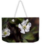 White Anemone Flowers Weekender Tote Bag
