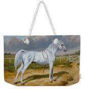 White Arabian Stallion Weekender Tote Bag