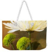 White Autumn Weekender Tote Bag