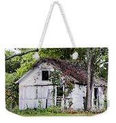 White Barn In Autumn Weekender Tote Bag