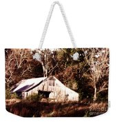 White Barn In Autumn Weekender Tote Bag