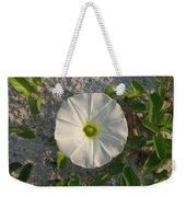 White Beach Flower Weekender Tote Bag