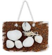White Beach Rock Vignette Weekender Tote Bag