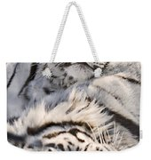 White Bengal Tigers, Forestry Farm Weekender Tote Bag