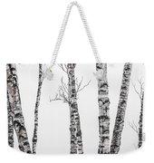 White Birches Weekender Tote Bag