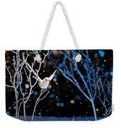 White Bird In Winter Weekender Tote Bag