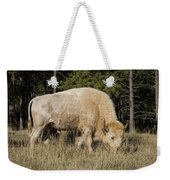 White Bison Symbol Of Hope And Renewal Weekender Tote Bag