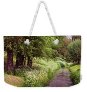 White Bloom Along The Dutch Canal. Netherlands Weekender Tote Bag