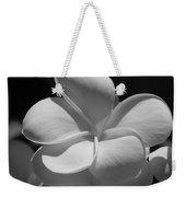 White Bloom B W Weekender Tote Bag