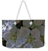 White Blooms Weekender Tote Bag