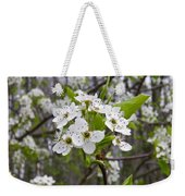 White Blooms Weekender Tote Bag