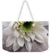 White Blossom On Rocks Weekender Tote Bag
