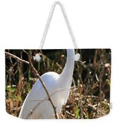 White Brilliance Of The Egret Weekender Tote Bag