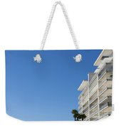 White Building And Palm Trees Weekender Tote Bag
