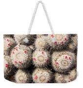 White Cactus Pink Flowers No1 Weekender Tote Bag