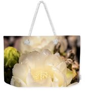 White Cactus Rose Weekender Tote Bag