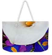 White Calla Lily Bouquet Art Prints Weekender Tote Bag