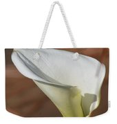 White Calla Lily Weekender Tote Bag