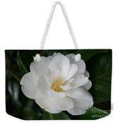 Snow White Camellia Weekender Tote Bag