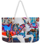 White Carousel Horse Weekender Tote Bag