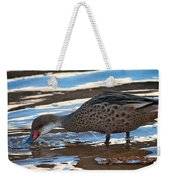 White-cheeked Pintail Weekender Tote Bag