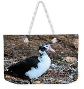 White Chested Muscovy Weekender Tote Bag