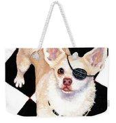 White Chihuahua - Pistachio Weekender Tote Bag