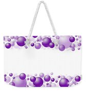 White Christmas Background With Purple Balls. Weekender Tote Bag
