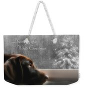 White Christmas Weekender Tote Bag by Lori Deiter