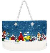 White Christmas Weekender Tote Bag