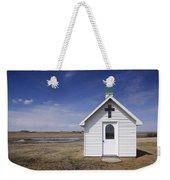 White Church Chapel  On Prairie Weekender Tote Bag