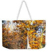 White Church In Autumn Weekender Tote Bag