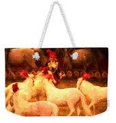 White Circus Ponies Weekender Tote Bag