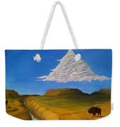 White Cloud Weekender Tote Bag