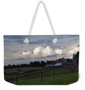 White Clouds Over The Farm Weekender Tote Bag