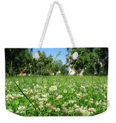 White Clover Field And The Playground Weekender Tote Bag